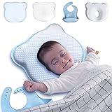 Viskoelastisches Kissen für Kinder, Kopfform des Babys, 4 Stück, zur Vermeidung und Heilung des flachen Kopfes des Babys in der Wiege, Anti-Kollisions-Kissen für die Sicherheit von Neugeborenen