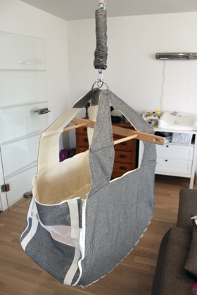 Die hängende Babywiege von Wombagee