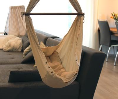 Eine hängende Babywiege